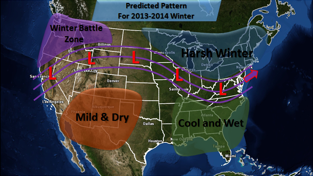Here is your Predicted Pattern for this winter